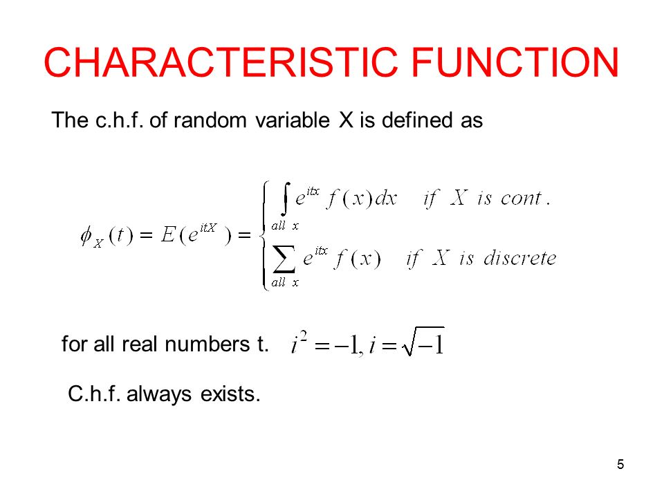 how to find characteristic function of poisson distribution