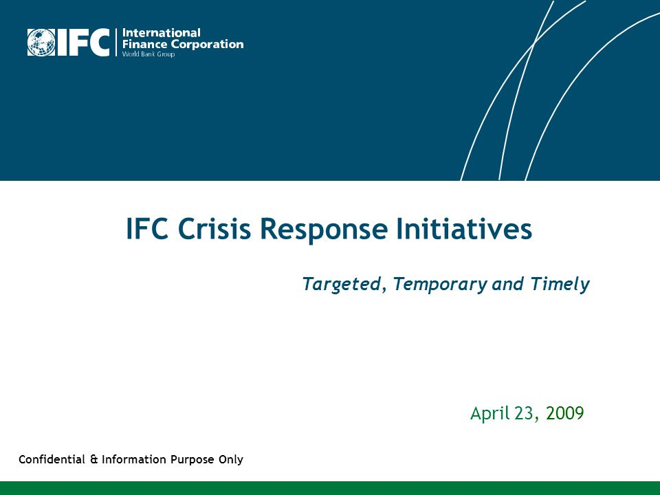 IFC Crisis Response Initiatives
