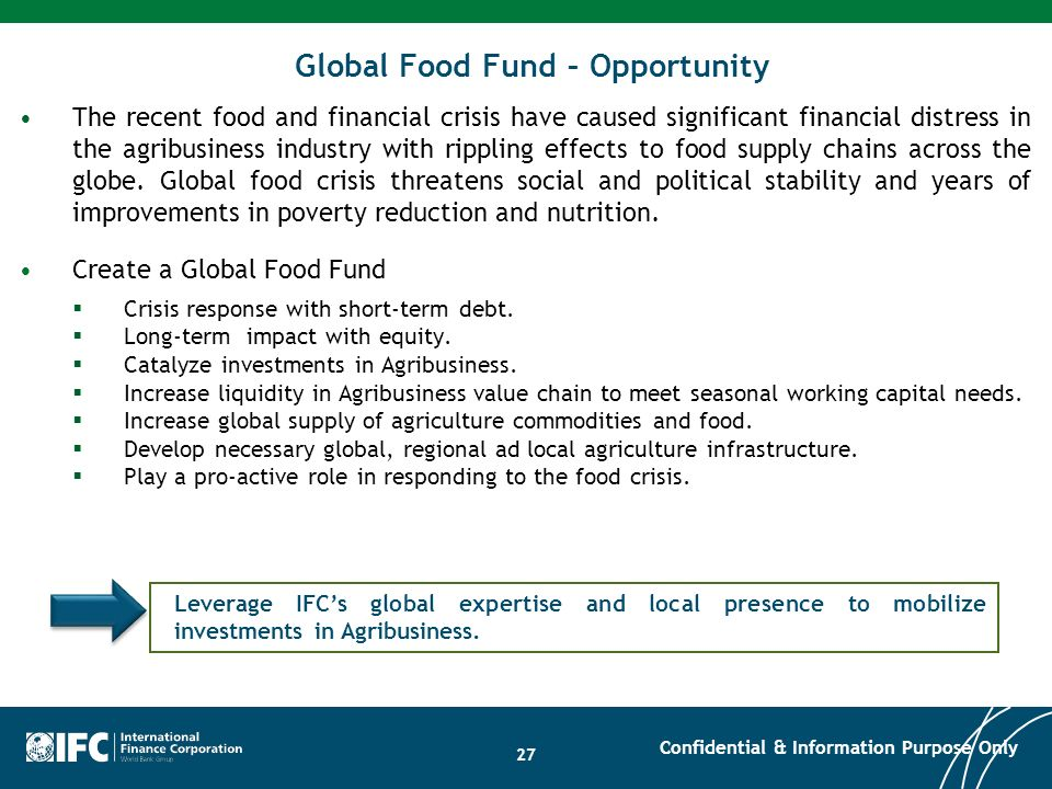 Global Food Fund – Opportunity