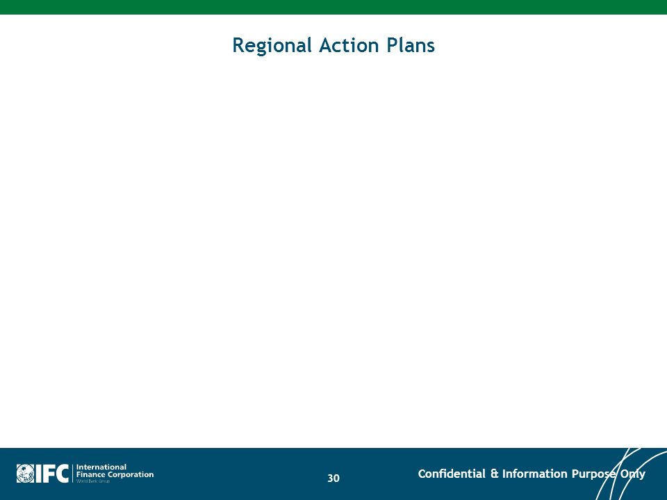 Regional Action Plans Confidential & Information Purpose Only