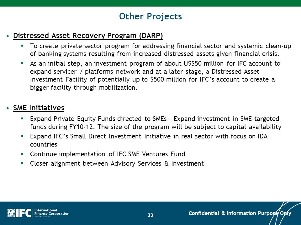 Other Projects Distressed Asset Recovery Program (DARP)