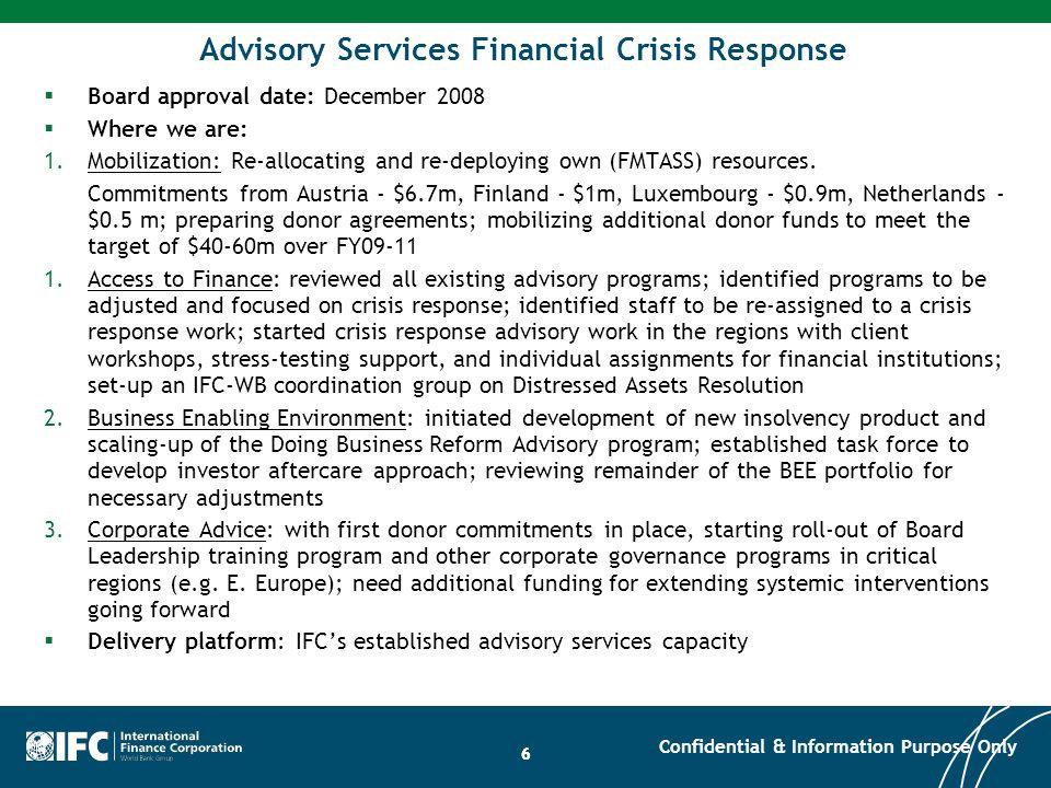 Advisory Services Financial Crisis Response