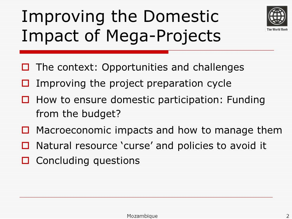 Improving the Domestic Impact of Mega-Projects