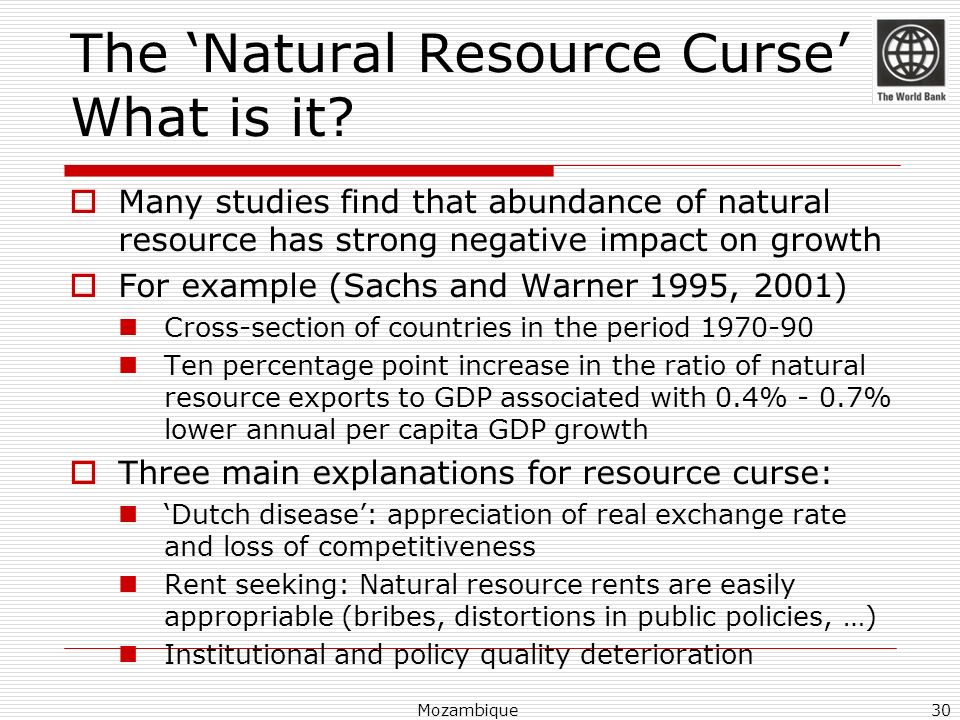 The 'Natural Resource Curse' What is it