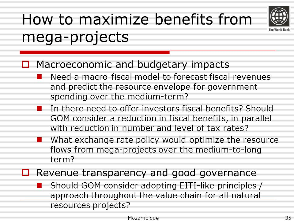 How to maximize benefits from mega-projects