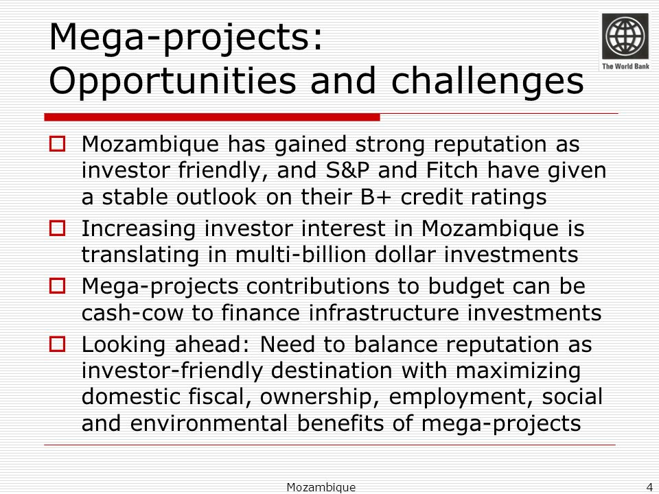Mega-projects: Opportunities and challenges