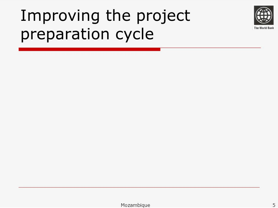 Improving the project preparation cycle
