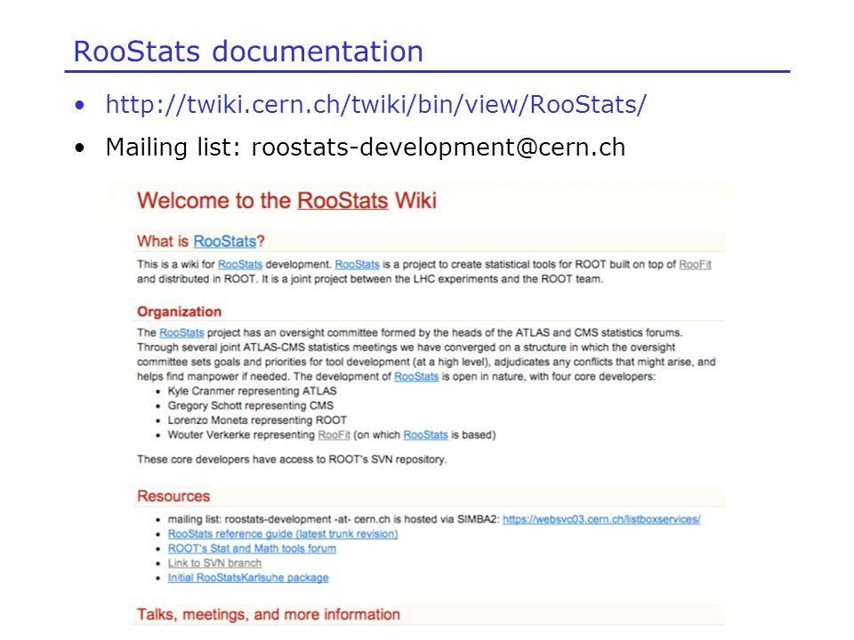 RooStats documentation