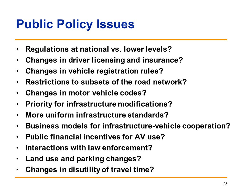 Fundamental issues in road transport automation ppt for National motor vehicle license organization