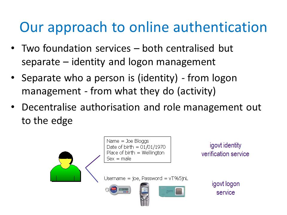Our approach to online authentication