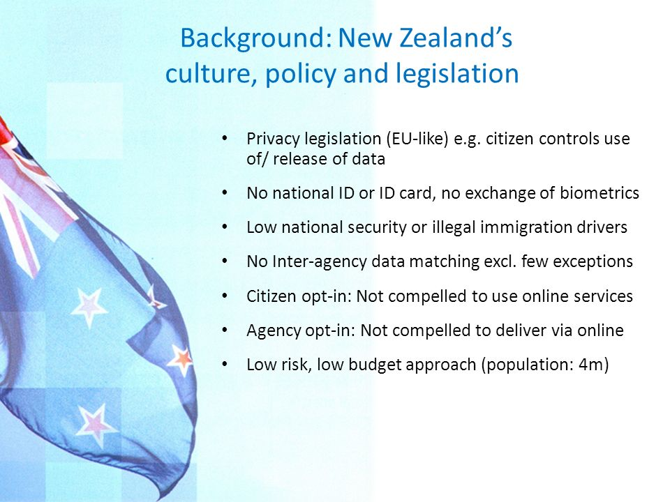 Background: New Zealand's culture, policy and legislation