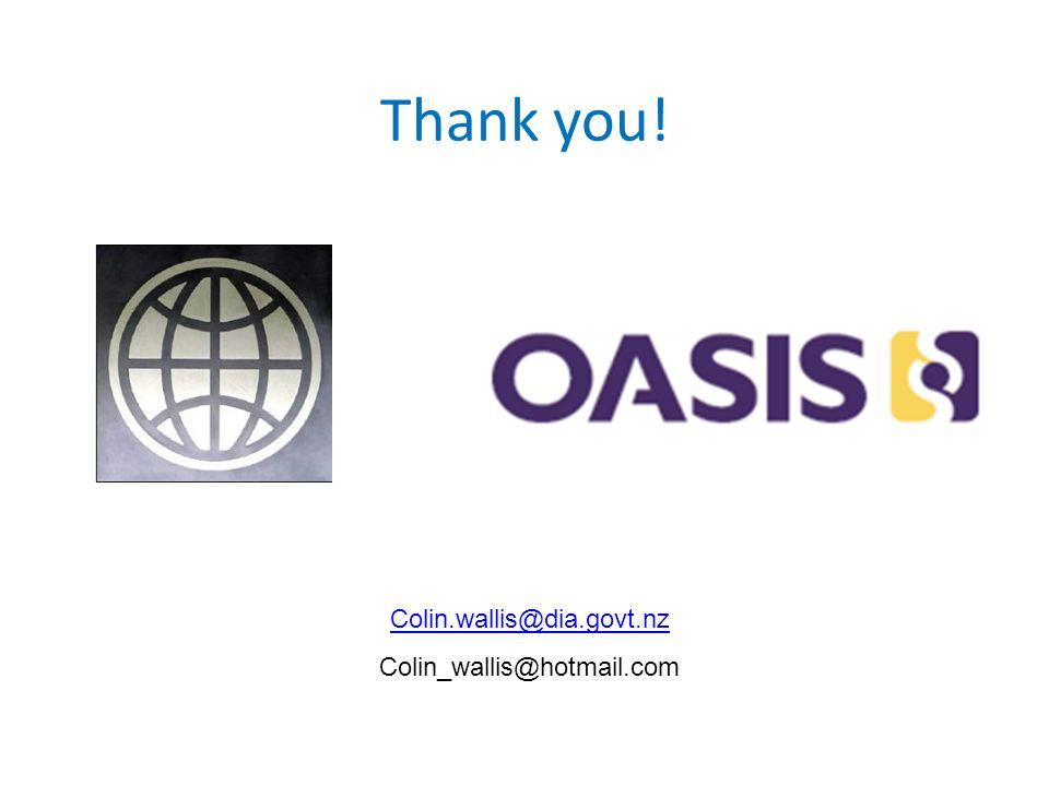 Thank you! Colin.wallis@dia.govt.nz Colin_wallis@hotmail.com