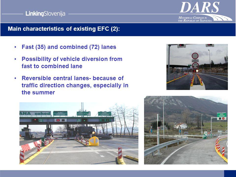 Main characteristics of existing EFC (2):