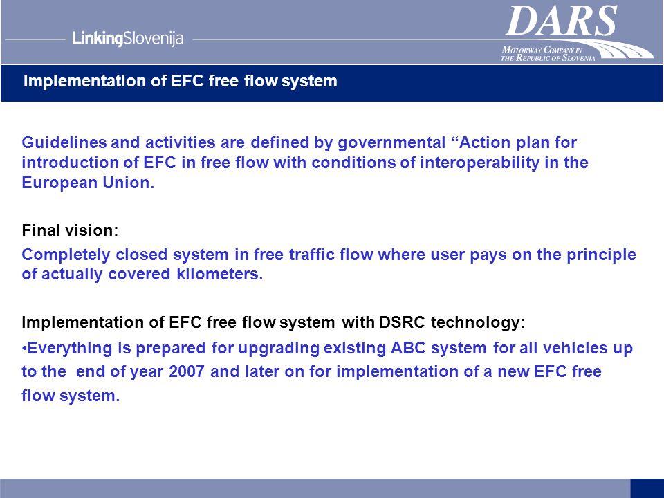 Implementation of EFC free flow system