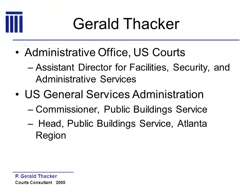 Gerald Thacker Administrative Office, US Courts