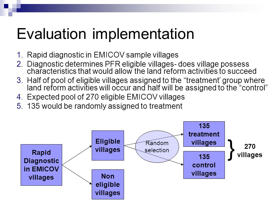 Evaluation implementation
