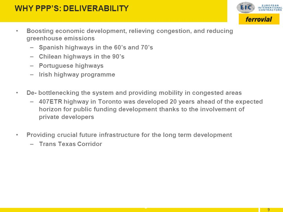 WHY PPP'S: DELIVERABILITY