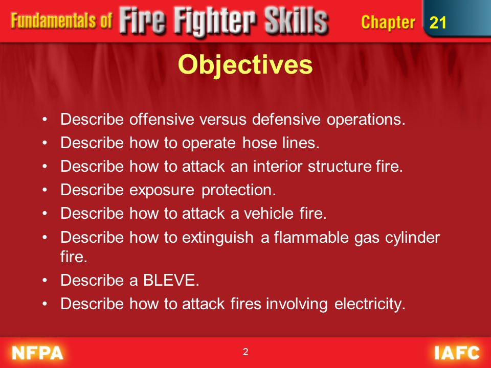offensive vs defensive fire attack Fire departments should have their firefighters trained to recognize when the building is appropriate to do an offensive attack or defensive attack safety of the crews is the most important aspect on all structural fires.