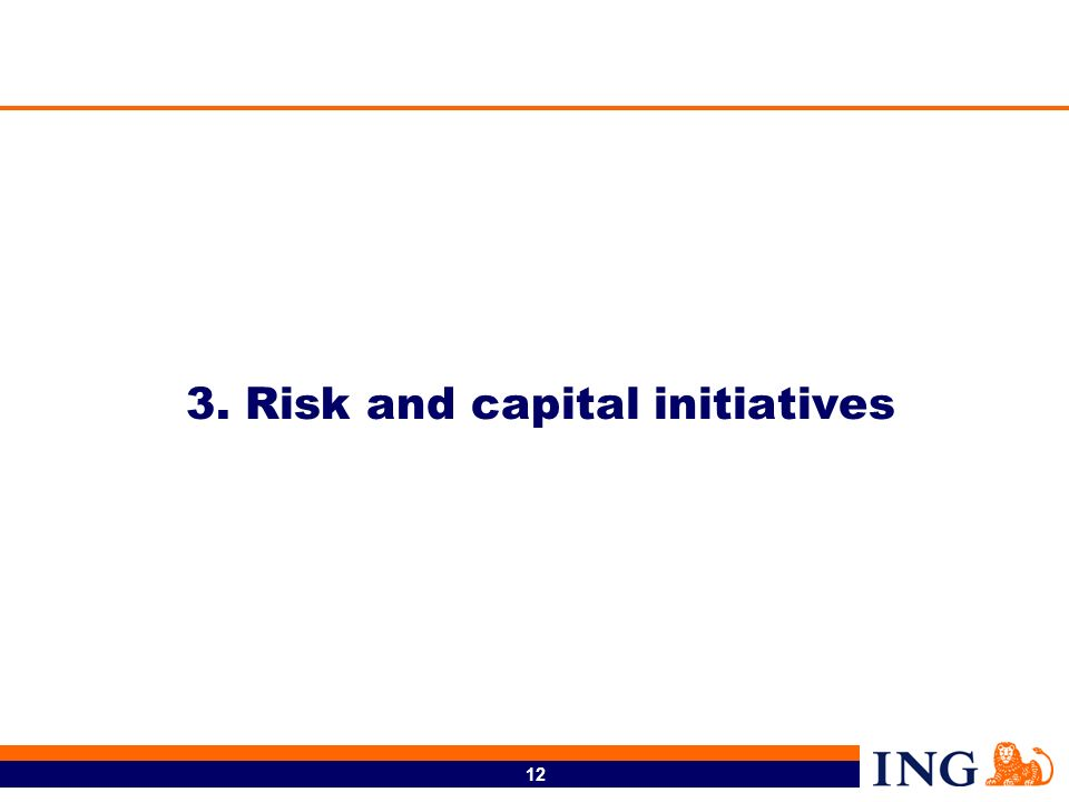 3. Risk and capital initiatives