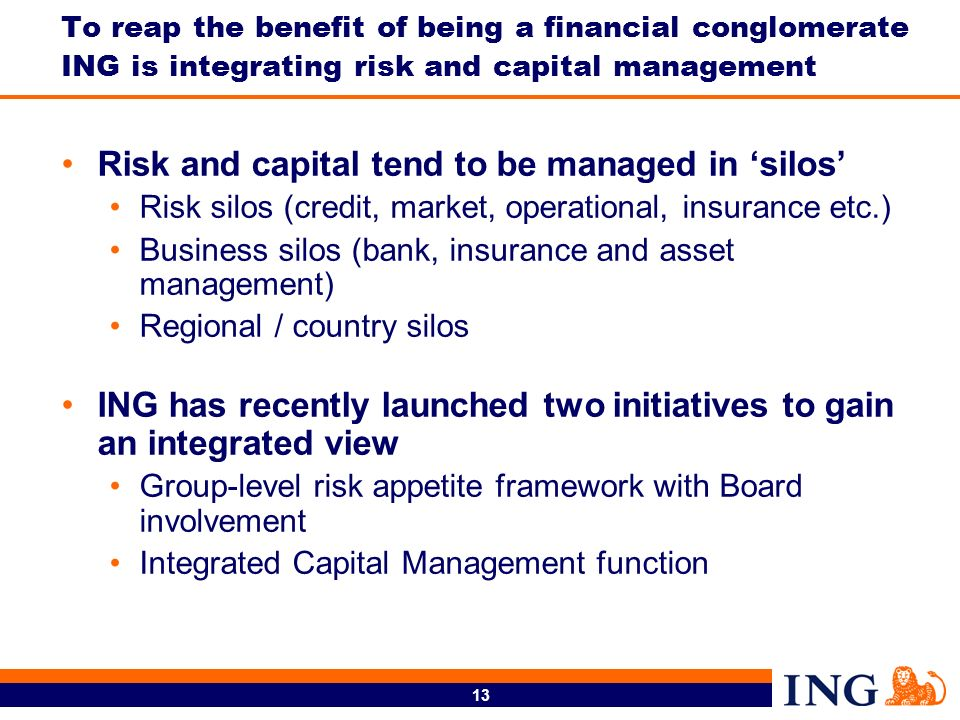 Risk and capital tend to be managed in 'silos'