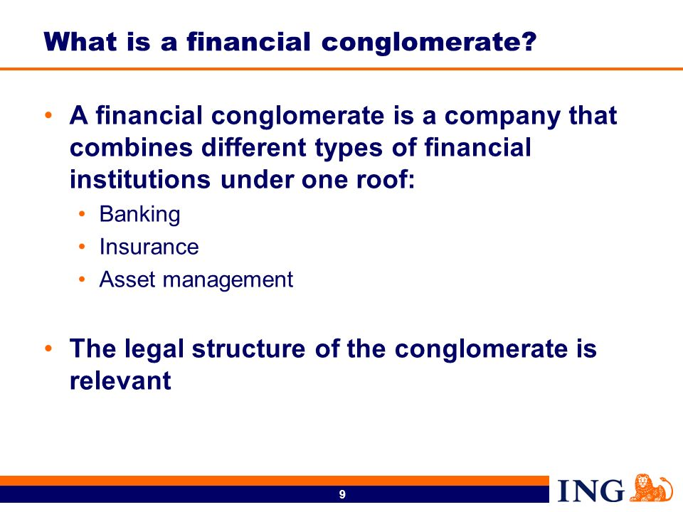 What is a financial conglomerate