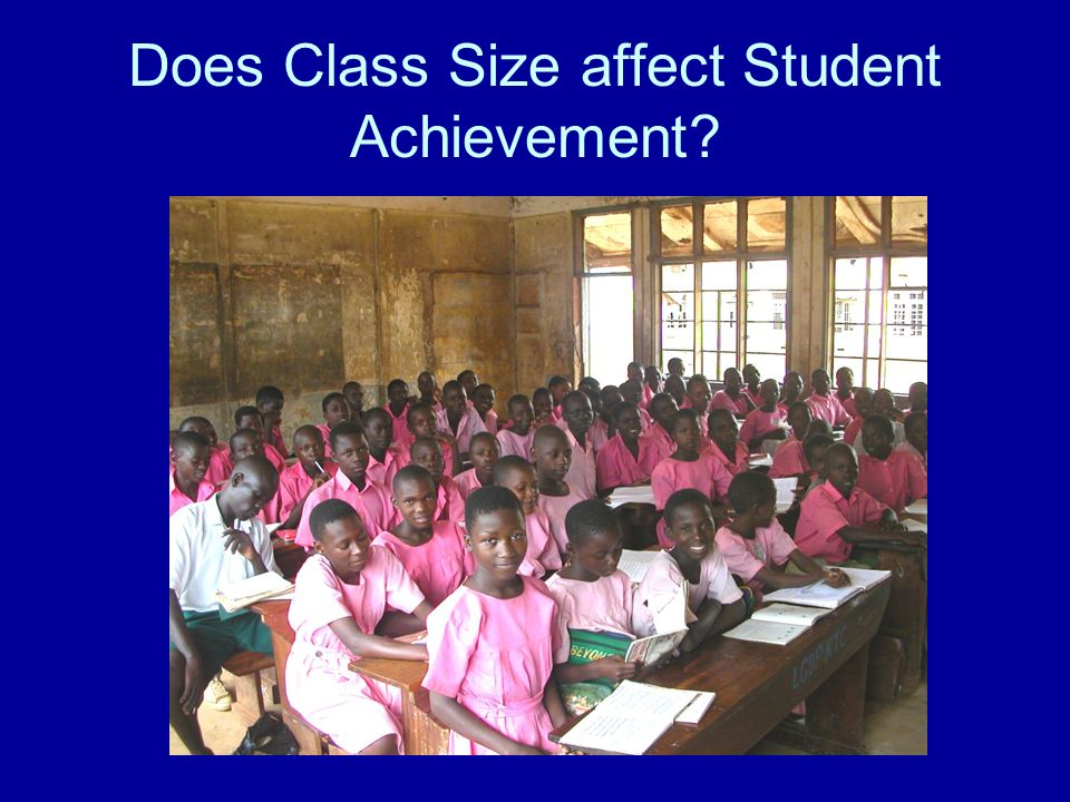 Does Class Size affect Student Achievement