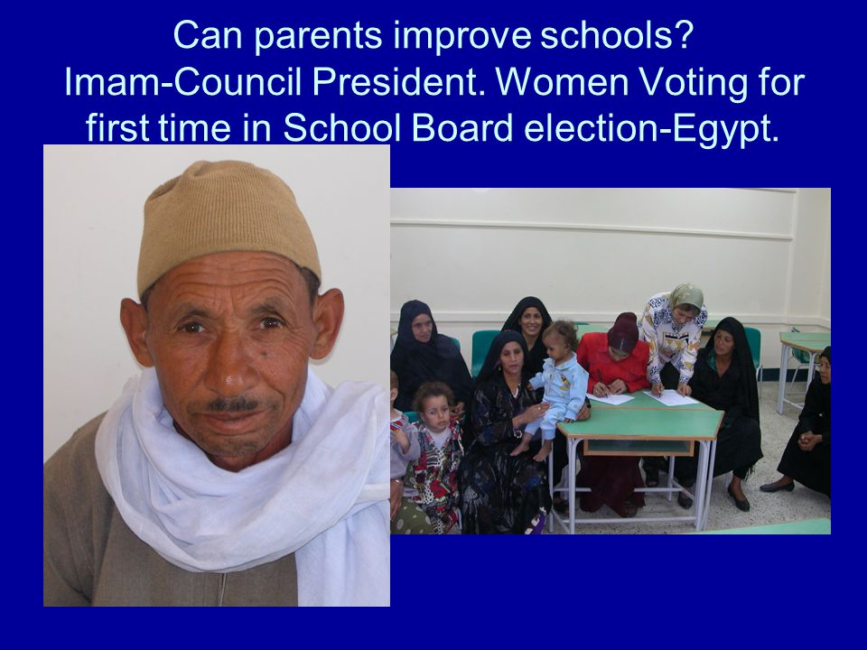Can parents improve schools. Imam-Council President