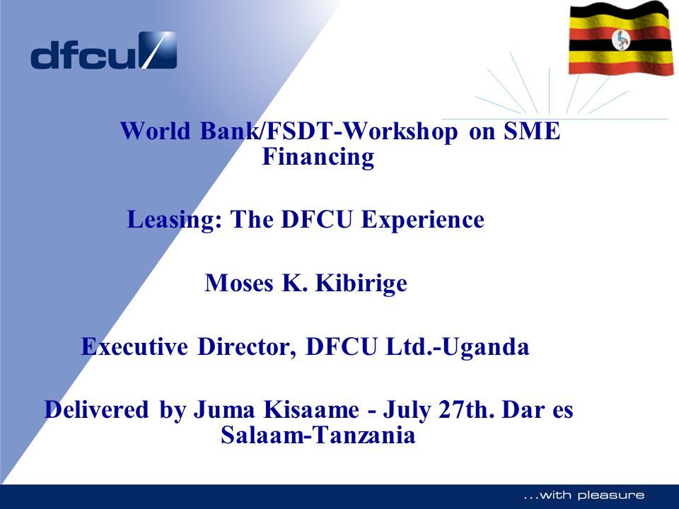 World Bank/FSDT-Workshop on SME Financing