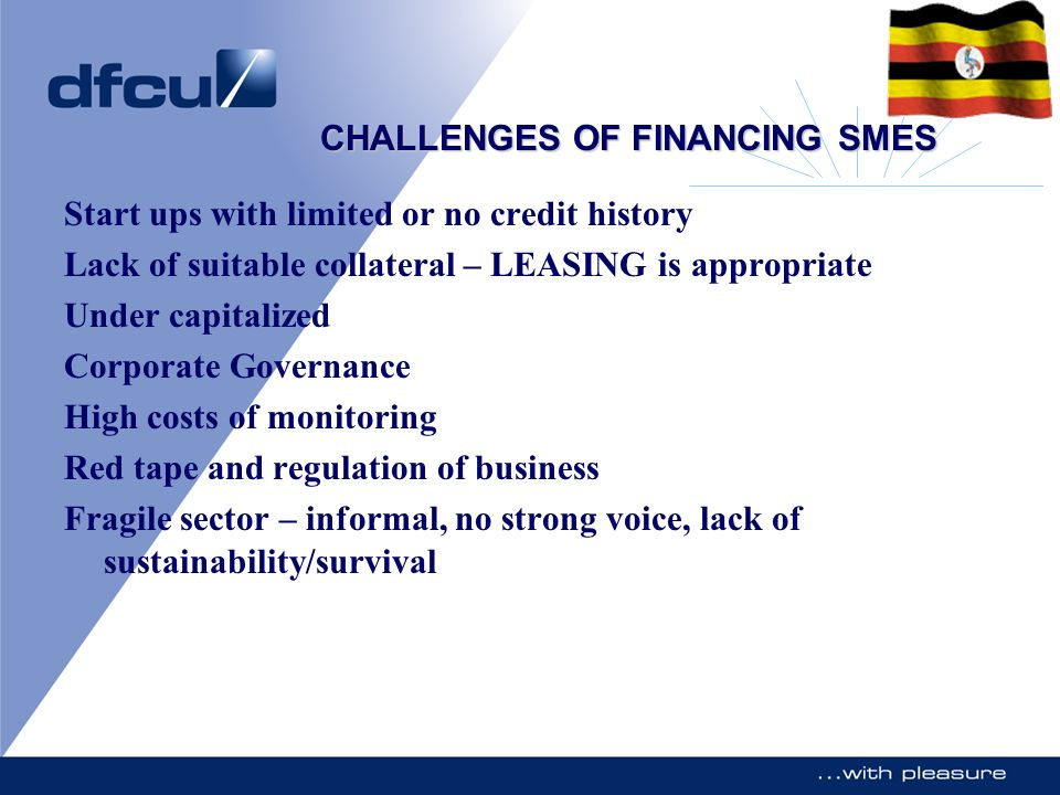 CHALLENGES OF FINANCING SMES