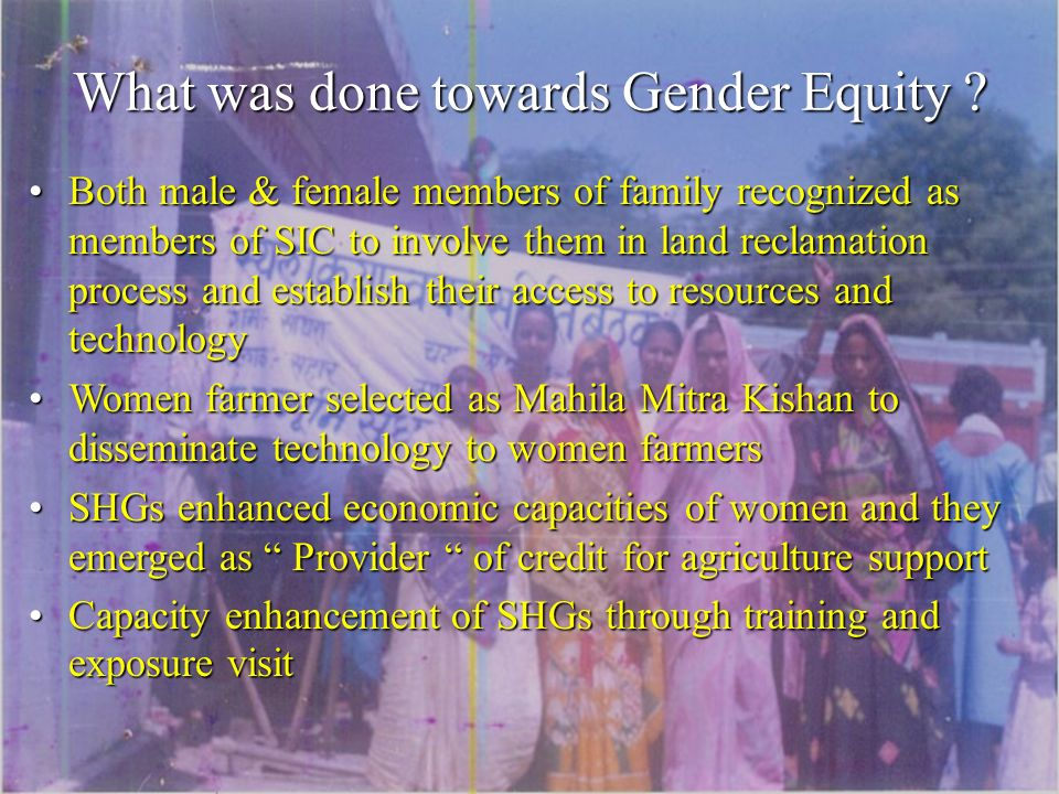What was done towards Gender Equity