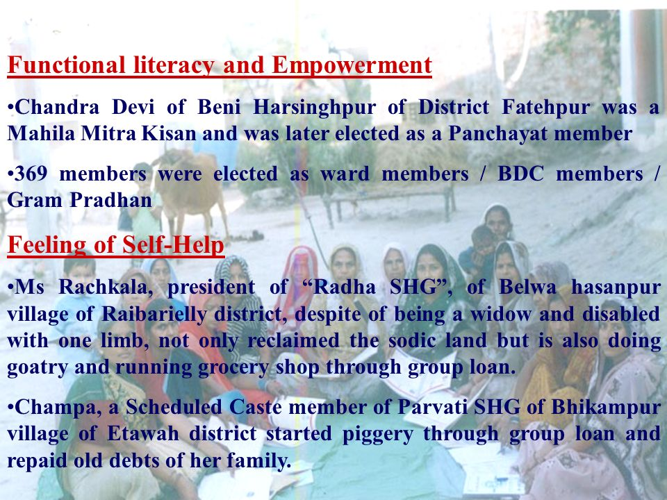Functional literacy and Empowerment