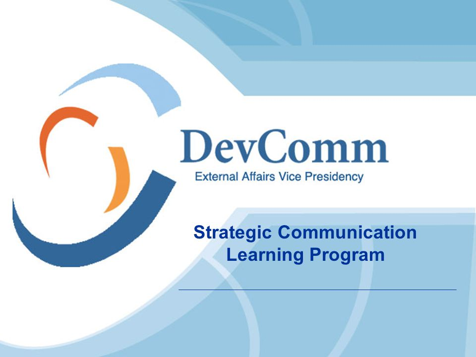 Strategic Communication Learning Program