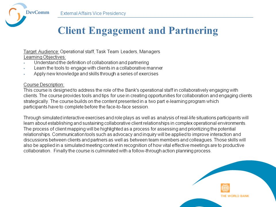 Client Engagement and Partnering