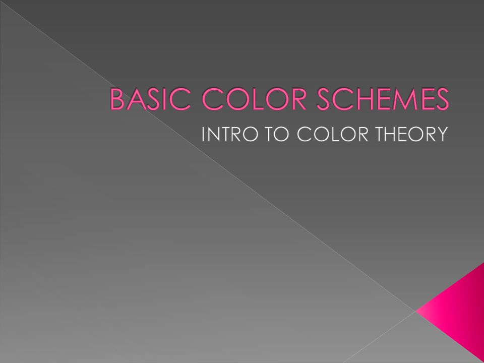 Basic Color Schemes Intro To Color Theory Ppt Video