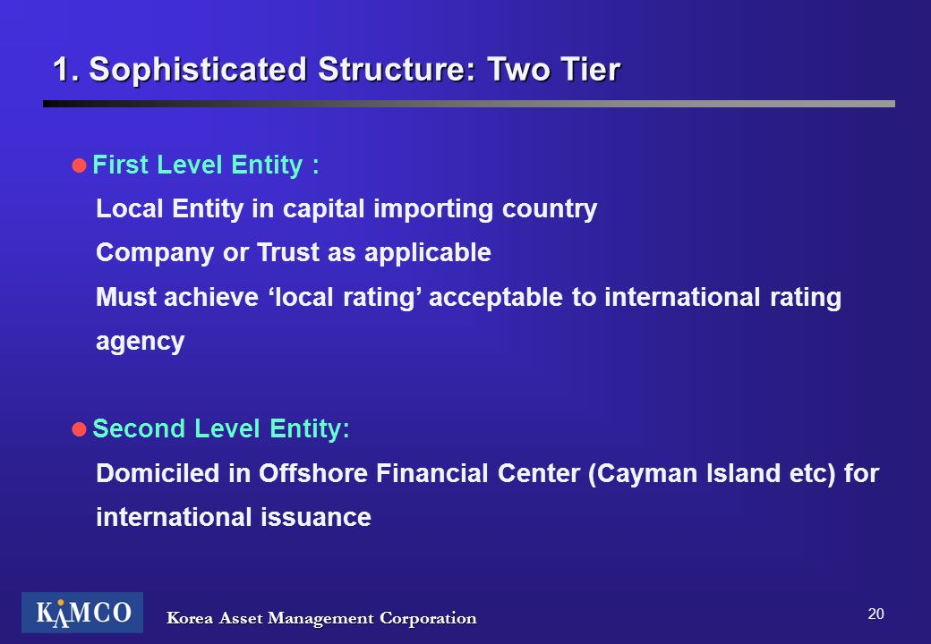 1. Sophisticated Structure: Two Tier