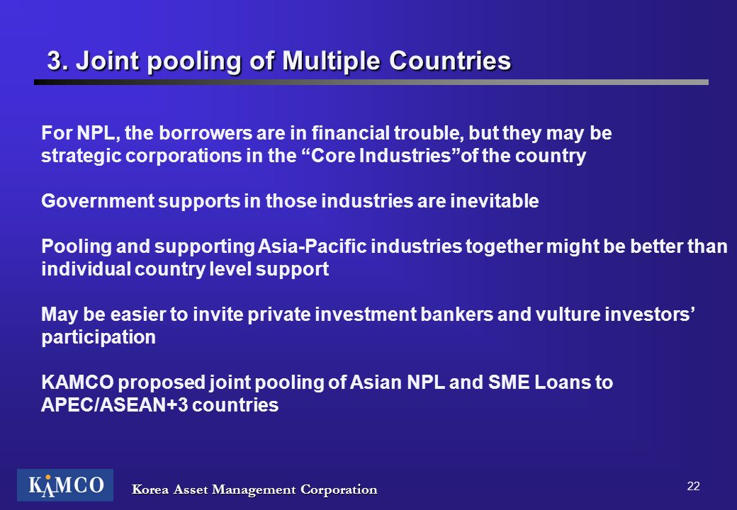3. Joint pooling of Multiple Countries