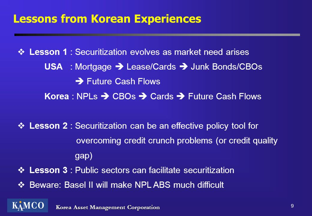 Lessons from Korean Experiences