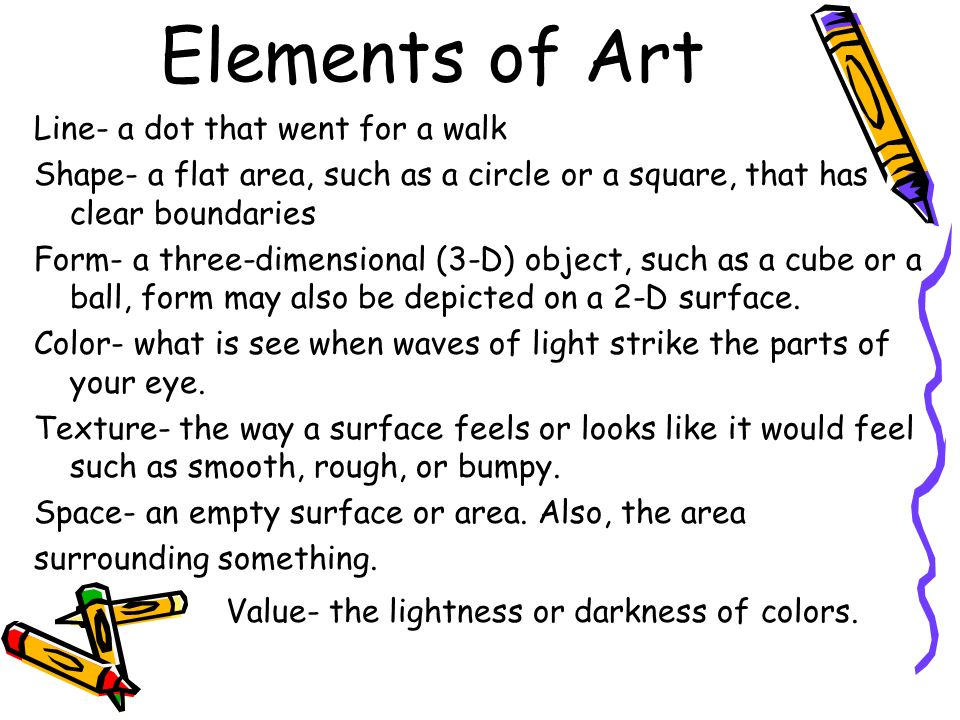 Elements of Art Line- a dot that went for a walk