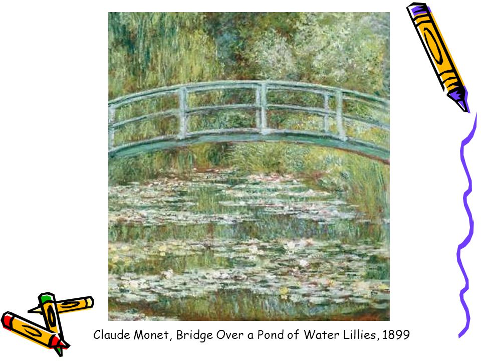 Claude Monet, Bridge Over a Pond of Water Lillies, 1899