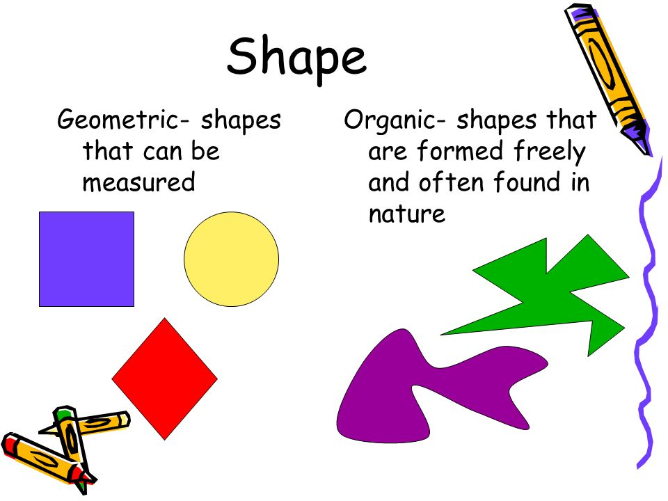 Shape Geometric- shapes that can be measured