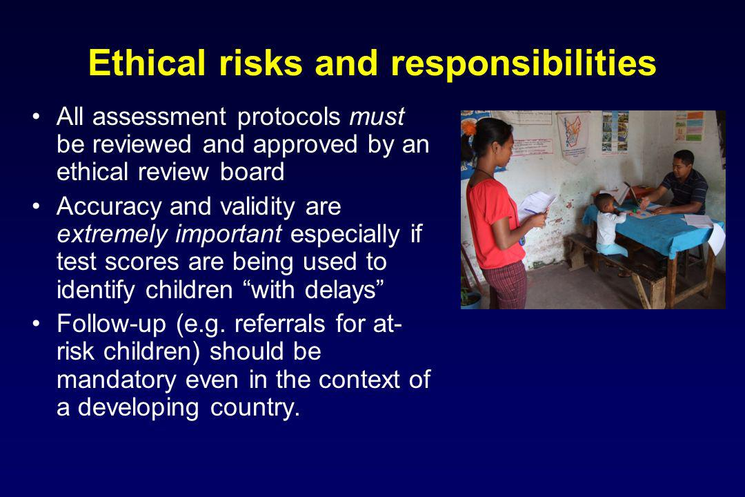 Ethical risks and responsibilities