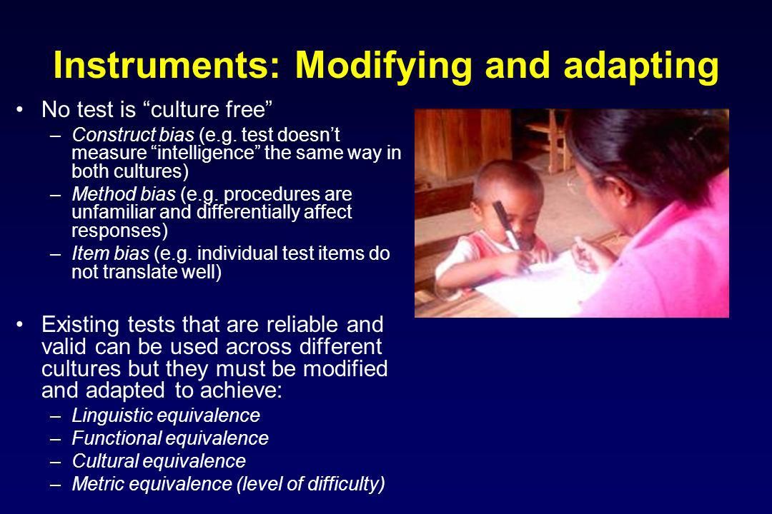 Instruments: Modifying and adapting
