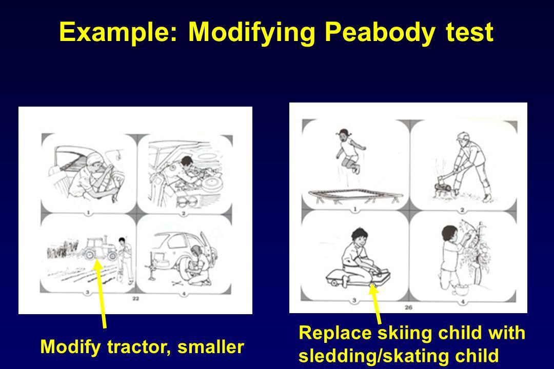 Example: Modifying Peabody test