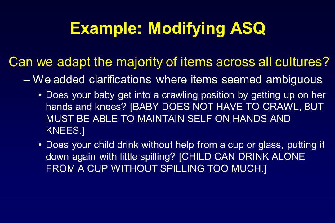 Example: Modifying ASQ