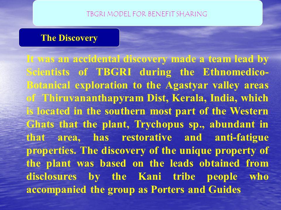 TBGRI MODEL FOR BENEFIT SHARING