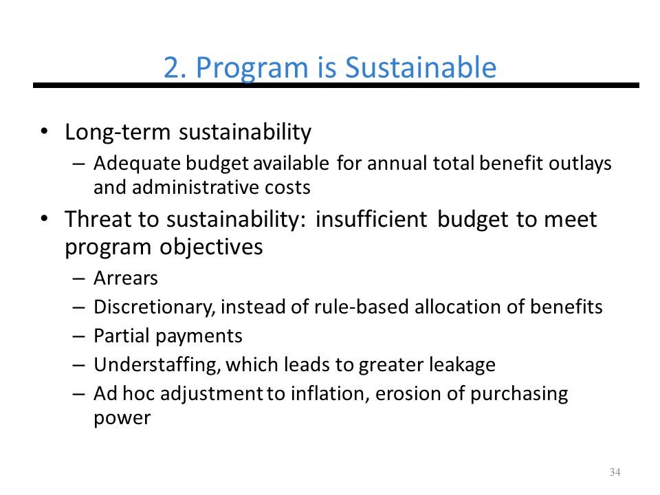 2. Program is Sustainable