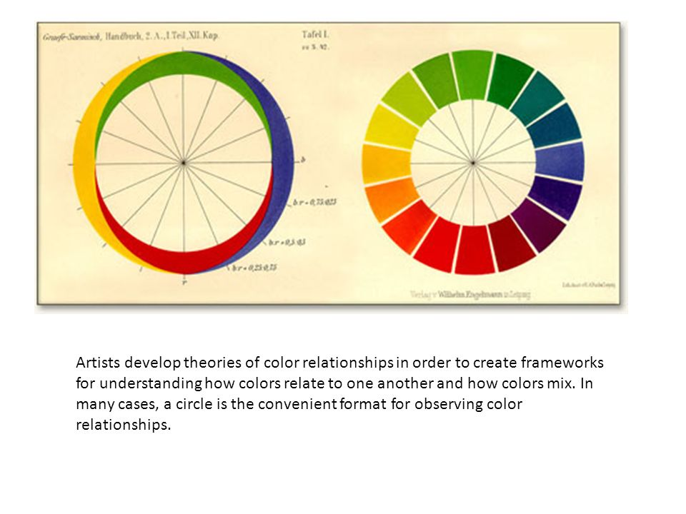 Artists Develop Theories Of Color Relationships In Order To Create Frameworks For Understanding How Colors Relate