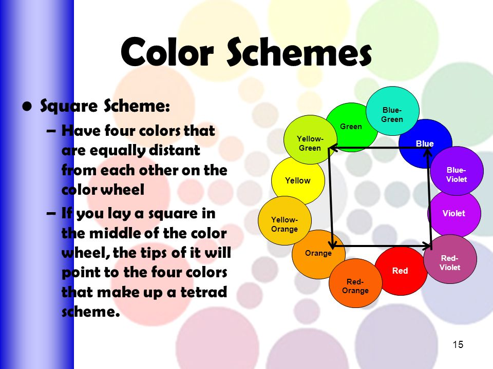 15 Color Schemes Square