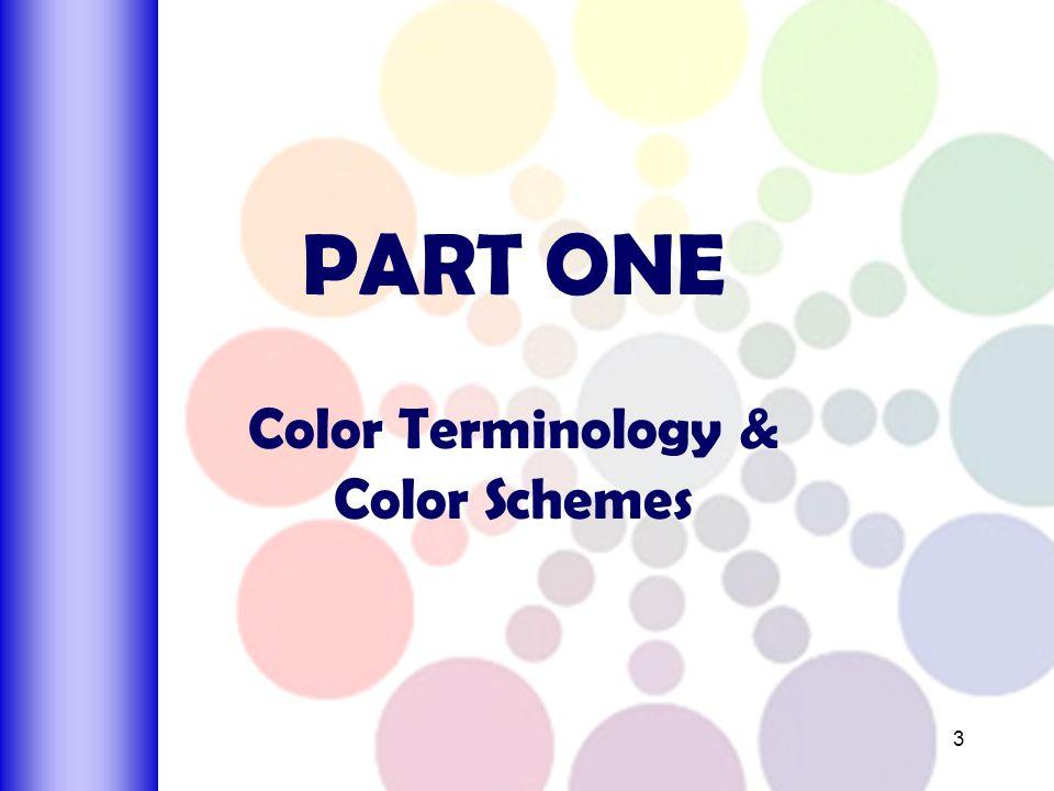 PART ONE Color Terminology Schemes