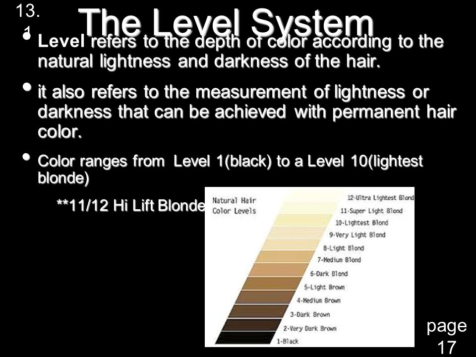 The Level System In Hair Color Simple To Understand The